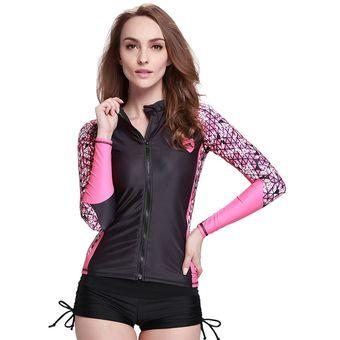 8469736786d6 Camisetas De Mujer Rashguard Surf Traje De Baño Manga Larga Anit-uv  Proteccion Solar Digital53