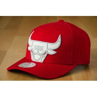 Compra Mitchell   Ness - Gorra Para Hombre NBA CHICAGO BULLS - Rojo ... 16c8b809509