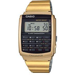 c802bf071b5c Reloj Casio Vintage CA506 CA-506G-9ADF Calculadora Databank - Dorado