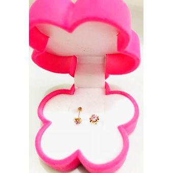 343b009b2e51 Compra Aretes De Bebes Flor Tic Tac De Oro 18 ( Rosado) online ...