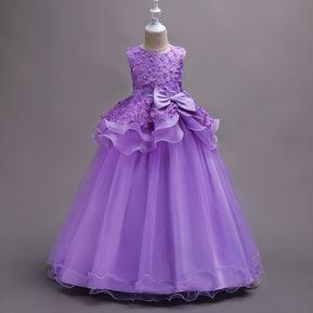 Vestido bordado tutu vestido de novia para niños - Morado f48533431b2d