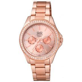 a983e6438b8 Reloj Q&Q ce01j002y Para Dama Lujoso Oro Rosa/Blanco Original