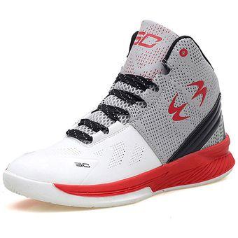 f9e9311a73 Compra Zapatillas De Baloncesto Hombre Zapatillas De Cuero-Blanco ...
