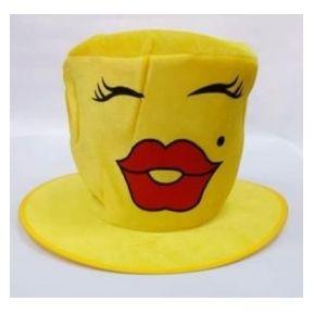 Gorro Cotillón Festday Emoticon Besos Amarillo 946a6025230