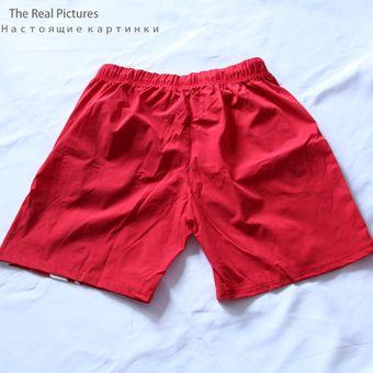 Pantalones Cortos Sexys De Verano Para Hombre Pantalones Cortos Rojos Para Gimnasio Ropa De Calle Pantalones