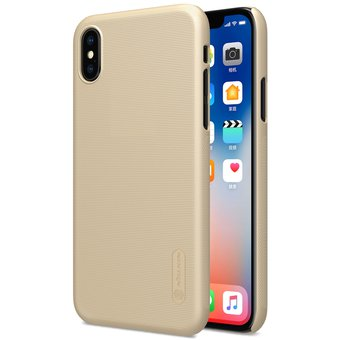 82ee0cc85 Nillkin Frosted Protector Para IPhone X Cóncavo Convexo Textura PC Funda  Protectora Tapa Trasera (oro