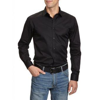 Compra Camisa Manga Larga Para Hombre Outfit Negro Ca