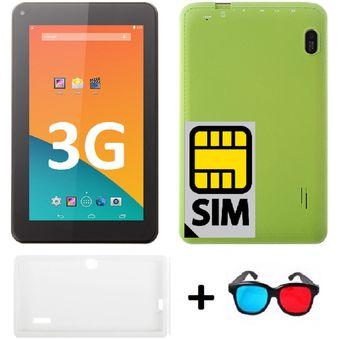dbebee2bfd6 Compra Tablet SIM Card 3G + FUNDA + GAFAS 3D Huskee Helios VERDE ...