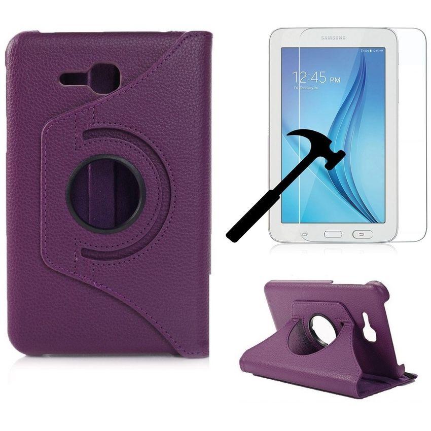 Samsung Galaxy Tab E Lite 7 SM-T113 Funda Y Mica De Vidrio Templado