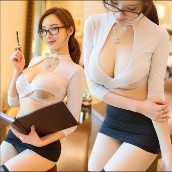 Porno Lencería Sexy Mujeres Ropa Interior Erótica Blanco