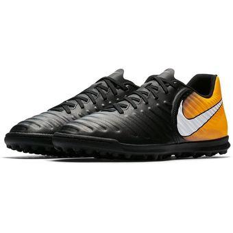 264659544 Agotado Guayos Fútbol Hombre Nike TiempoX Rio IV TF -Negro Con Naranja