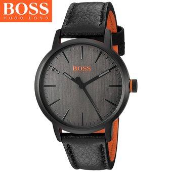4fa132d75357 Reloj Hugo Boss 1550055 Copenhagen Acero Inoxidable Correa De Cuero - Negro  Naranja