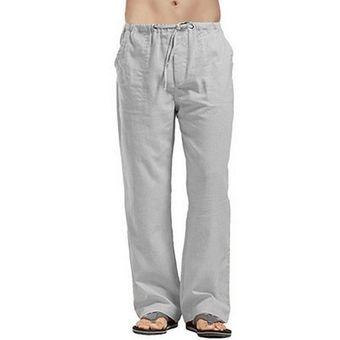 Mujeres Algodon Lino Bolsillos Casual Pantalones Verano Recto Largo Completo Harem Pantalones Cintura Elastica Turnip Mujer S Wan Gray Linio Peru Ge582sp1gc1kblpe