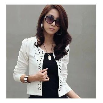 b2278f930220a Blazer Femenino Blanco Denim Chaqueta Jaqueta Feminina Veste Femme Chaqueta  Mujer Cardigan Abrigos Mujer Roupas-