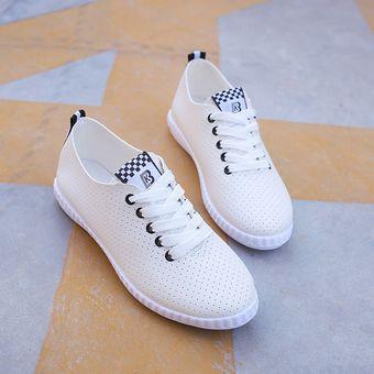 colección completa ajuste clásico amplia selección Zapatos Deportivos De Encaje Transpirables De La Malla Para Mujer - Blanco  Y Negro