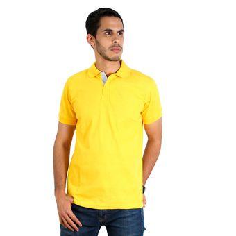 Compra Camiseta Tipo Polo Hamer Color Amarillo Oro online  81b3102d5109b