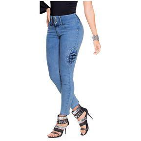 cc975efe85 Jean Adulto Marketing Personal Para Mujer Azul