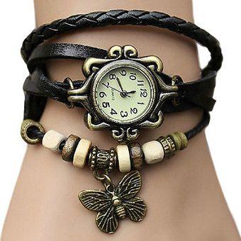 2f477e0b4e66 Compra Cadi - Reloj Analógico Mujer Vintage Pulsera - Negro online ...
