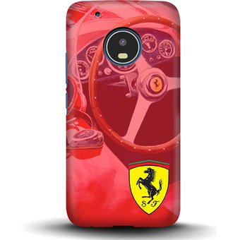 9f54081030a06 Kustomit - Carcasa Moto G5 Plus - Ferrari - Vintage - Case Funda Protector