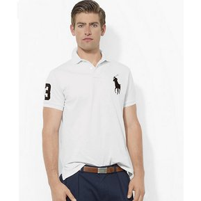 c0303cbefda71 Playera Polo By Ralph Lauren Custom Fit Color Blanco Con Negro