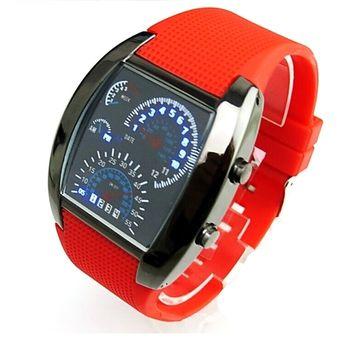 566c890c45e2 Reloj Aviador F50 Geneva Velocimetro Watch Extensible Caucho Reforzado -  Rojo