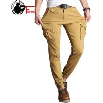 Pantalones Ajustados Para Hombre Pantalones Estrechos Elasticos Pantalones Militares Tacticos De Carga Pantalones De Algodon Con Varios Bolsillos Pantalones Para Hombre Hasta El Tobillo Xyx Khaki Linio Peru Ge582fa0igxivlpe
