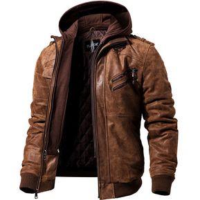 Chamarras y abrigos de cuero y tipo cuero hombre compra