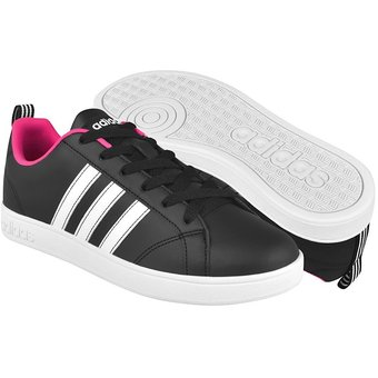 Tenis casuales Adidas mujer simipel blanco rosa BB9623