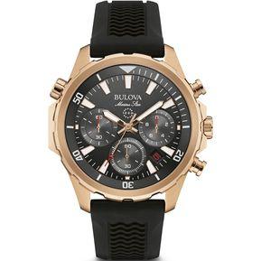f9fec470698e Reloj Bulova 97B153 Marine Star Hombre - Negro Y Dorado