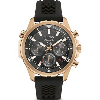 f712606bf6c7 Compra Reloj Bulova 97B153 Marine Star Hombre - Negro Y Dorado ...