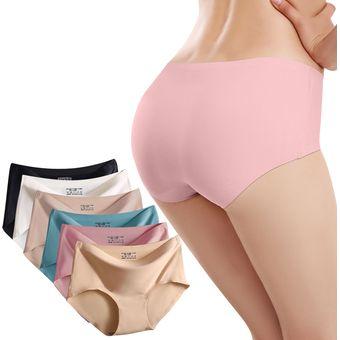 c92588773893 6 Piezas Ropa Interior Interior Sin Costura M-XL Tamaño Cintura Pantalones  Bragas Para Mujer - Coloridos
