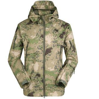 comprar más nuevo bien fuera x variedades anchas EY Tácticas Militares Hombres Chaqueta De Piel De Tiburón Soft Shell  Cortavientos Abrigo Impermeable-Camuflaje Verde