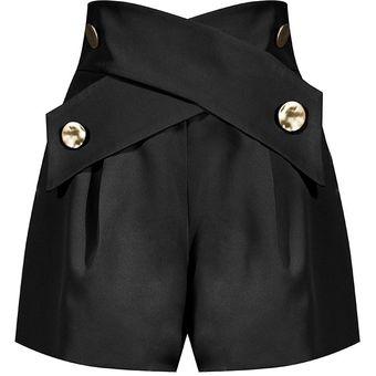 Almazuela Elegante Pantalones Cortos Para Mujer Cintura Alta Asimetrico Color De Golpe Pantalones Cortos Sueltos Para Mujer Ropa A La Moda Black Linio Peru Un055fa04pj8zlpe
