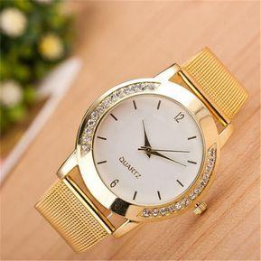 8948098c8127 Relojes de señora cuarzo acero inoxidable-Dorado