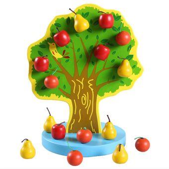 520cm EducativosTamaño23 Frutas Magneticas Juguetes Niños Madera Recogiendo Feliz Jardin Manzanas Pegatinas 0P8nkwO
