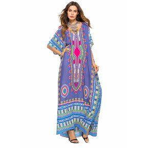70019572f4 Moda genérica CS6029 Casual Mujer vestidos largos-Gris