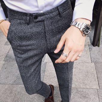 Pantalones Ajustados Pantalones Formales Para Hombre Estilo Britanico Pantalones De Vestir Para Hombre Pantalones De Traje Pantalones Para Hombre Perfume Masculino Xyx Light Gray Linio Peru Ge582fa0eh41zlpe