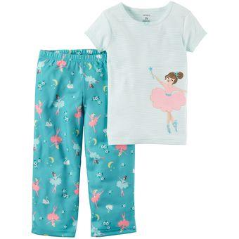 fc38bc27ba Compra Pijama 2 Piezas De Algodón Carter s Para Bebé Niña - Celeste ...
