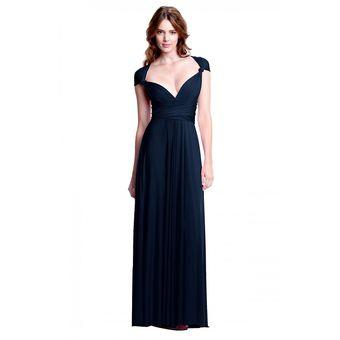 Vestido azul marino largo mexico