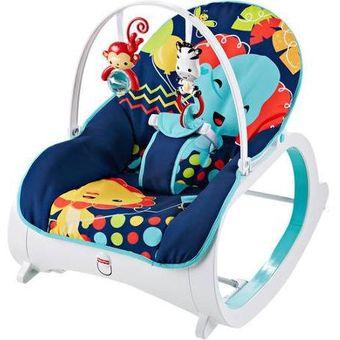274513c3ed19 Agotado Silla Mecedora Vibradora Crece Conmigo Bebe Fisher Price CMR06 Azul