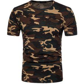 aec9716cc7f Camiseta De Camuflaje Camisa Para Tops Hombre Hombre De Primavera Y Verano