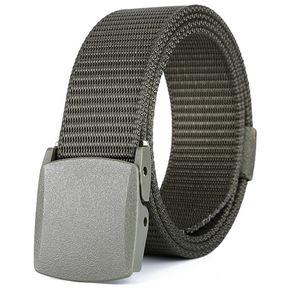 dad05cdf10e Cinturón para hombre y mujer tendencia de moda cinturón elástico   cinturón -125CM-Ejercito