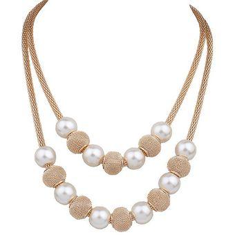 c9f5eb64d5bd Compra Collar Harmonie Accesorios Perlas Esferas Dorado online ...