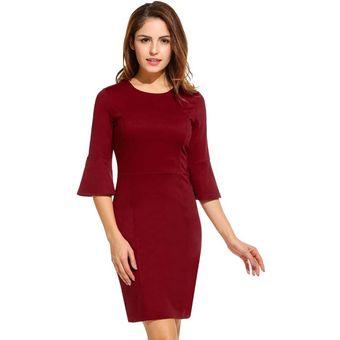 dcad41f8d Compra Vestido Casual Rosa Roja Rojo de vino online