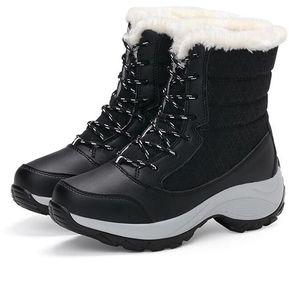 b4af3997de8 Botas de nieve de la plataforma de invierno de las mujeres -negro