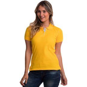 8577b75b99a87 Camiseta Tipo Polo HAMER Mujer 002 Amarillo Oro