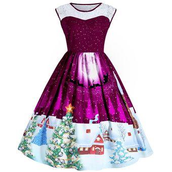 1f3664ba597 Compra Vestido Casual Generico Encaje Cosiendo Imprimiendo Vestidos ...