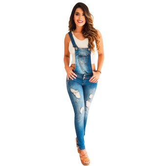 Compra Overol Dama Pink Star Jeans Levantacola Colombianos online ... 406a620ddd55