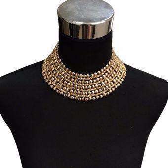 80c0e8cb128f Compra Collar Harmonie Accesorios Multicapas Esferas Maxi Dorado ...
