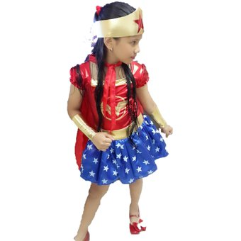 Compra Disfraz Disfraces Mujer Maravilla Niña Halloween online ... c015d3e716ef